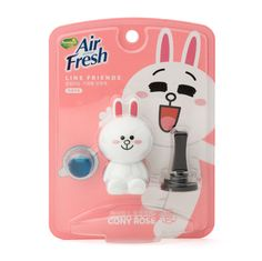 Line Friends Characters Home Car Vent Clip Air Freshener Rose Scent Cony #Homez