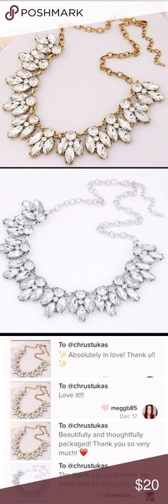 5for$25 Trendy crystal statement necklace Brand new crystal necklace Jewelry Necklaces