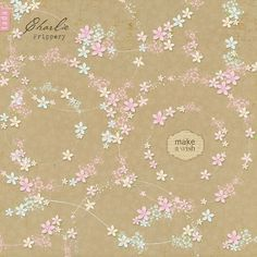 Digital embellishments for digital scrapbooking - Frippery Flowers on Etsy, $8.95