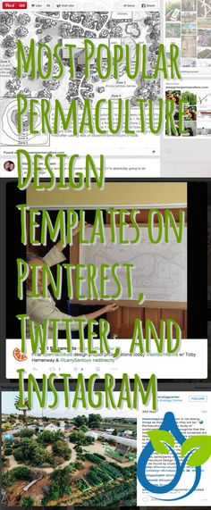 Most Popular Permaculture Design Templates on Pinterest, Twitter, and Instagram. Melissa Bowen Jensen got the Pinterest win! #ledesigntemp #livingecology #permaculturedesigns
