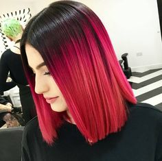 """Almost 13000 likes and YOU wanted the formula! OK! Formula & SBS now live .. search """"Crimson Ombré"""" on http://ift.tt/1eBB4sR thanks to Annie & Sophia at @notanothersalon for sharing her color secrets w/ our #behindthechair members! #redhair #ombre #colormelt by behindthechair_com"""