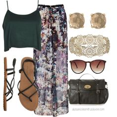 """Boho Maxi Skirt Outfit 18"" by alyssanicolesmith on Polyvore"