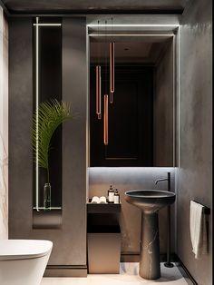 Contemporary Bathroom Design - Interior Decor and Designing Contemporary Bathroom Designs, Bathroom Design Luxury, Modern Bathroom, Home Interior Design, Bathroom Small, Bathroom Mirrors, Bathroom Cabinets, Bathroom Bath, Interior Plants