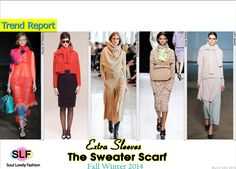 The Sweater Scarf. The #sweater wrapped around the neck as a #scarf #Fashion Trend for Fall Winter 2014 #Fall2014 #Fall2014Trends #FashionTrends2014