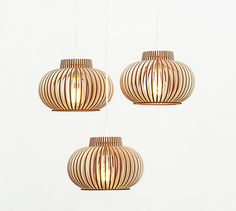 Already ASSEMBLED set of 3 lamps / set of three lamps / by BOTEH