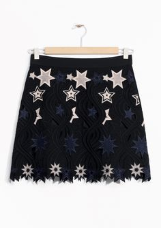 & Other Stories | Embroidered Stars Skirt