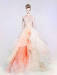 Ombre wedding trend is one of the hottest trend last year and this year, and I'd like to tell you about ombre wedding gowns because they are a real hit right now. Such a tender and sweet dress is a stunning idea for a spring, summer...