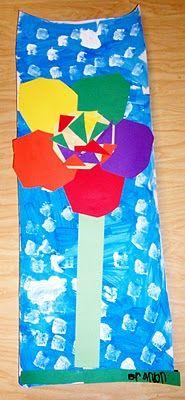 art & ideas that grow: First Grade Planted a Rainbow