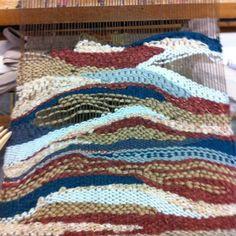 weaving  #tapestry #weaving #loom #art -nici ashner