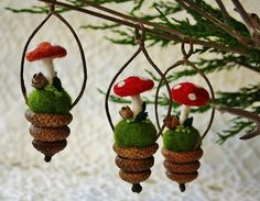 Sweet little ornaments for the tree... by woolly fabulous, via Flickr: