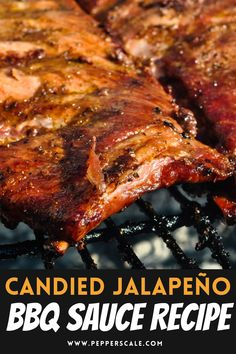 Candied jalapeños (a.k.a. cowboy candy) are a spicy food secret weapon. They are so unassuming in looks - just glistening jalapeño pepper slices - but their sweet and spicy quotient is off the charts. In fact, they make for one amazing secret ingredient in BBQ sauce. #candiedjalapenos #jalapenos #cowboycandy