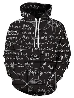 3D Great Math Genius Print Hooded Hoodie Men Women Sweater Pullover Tops  Black Hoody ee9e583863b5