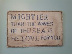 Nautical sign made for my son's nursery.