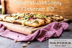 Drumroll please. The winner of our giveaway is FLETCHER HC! Fletcher and 4 of his lucky friends will enjoy a Pizza Party for 5 at either our or location! Thank you to everyone who entered! National Pizza Month, How To Make Pizza, Pizza Party, Giveaway, Congratulations, Menu, Friends, Menu Board Design, Amigos