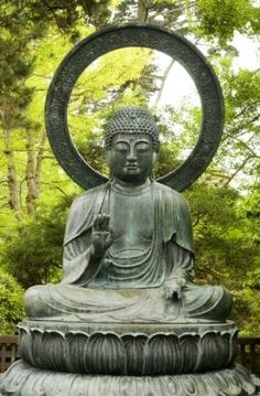 A statue of the Buddha to place under a fig tree. After all, Siddhartha was enlightened under the boughs of a Bodhi tree.