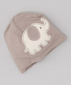Take a look at this Mocha Elephant Organic Beanie by Silkberry Baby on #zulily today!