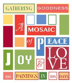 Susan J York is raising funds for Gathering Goodness Mosaic on Kickstarter! 108 piece painted mosaic of Peace, Joy and Love created from submitted images, stories and songs as a shield to cancer & world ills. Inspire Me, Mosaic, Cancer, Peace, Good Things, Mosaics, Sobriety, Mosaic Art, World