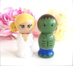 I'll have to get the hulk man for Jordan when we get married lol When We Get Married, Got Married, Moon Wedding, Dream Wedding, Custom Wedding Cake Toppers, Wedding Cakes, Hulk Man, Wedding Stuff, Wedding Ideas