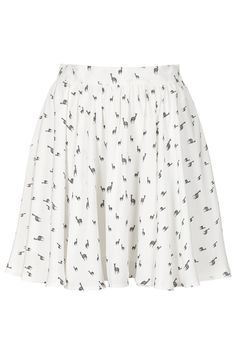 **Floaty Skater Skirt by Oh My Love - Skirts - Clothing - Topshop love the little zebras! Perfect for those like myself not bold enough to go all out geo-print