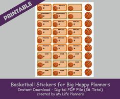 Basketball Stickers for BHP