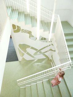 Kinderkrippe Gustav-Meyrink-Straße, München Treppe, © MORPHO-LOGIC