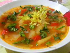 Reteta culinara Ciorba de cartofi cu leurda - de post din categoria Mancaruri de post. Specific Romania. Cum sa faci Ciorba de cartofi cu leurda - de post Thai Red Curry, Salsa, Ethnic Recipes, Soups, Gravy, Salsa Music, Restaurant Salsa, Soup, Dip