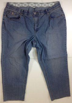 Cato Premium Womens Jeans Size 22WP 22W Petite  #Cato #StraightLeg