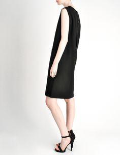 Norman Norell Vintage Black Wool Shift Dress - Amarcord Vintage Fashion  - 1