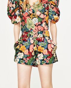 Image 6 of FLORAL PRINT SHORTS from Zara