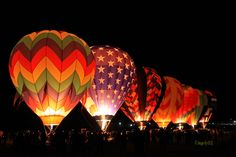 Dawn Patrol during Reno Hot Air Balloon Races in Sept