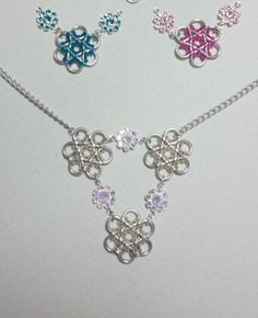 Flower Triad Necklace sample