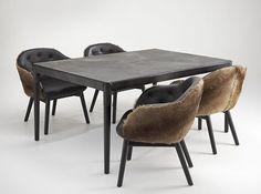 Kangaroo hide table by Ross Didier