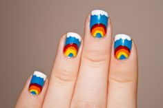 Creative hand painted nail designs | Helen's Style