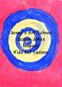 Joseys Art School Episode Jasper Johns Target Kids Art Lesson Easy art lessons for kids Art History Lessons, Art Lessons For Kids, Art For Kids, Target Paint, Joy Art, Jasper Johns, Fun Arts And Crafts, Inspiration For Kids, Simple Art