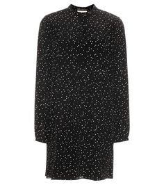 SAINT LAURENT Silk Shirt Dress. #saintlaurent #cloth #dresses