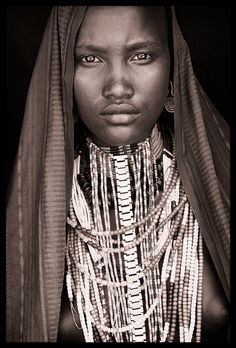 Portrait from 'Ethiopia - East/West & Omo' by John Kenny African Tribes, African Women, African Art, We Are The World, People Of The World, Tribal Fashion, African Fashion, John Kenny, Africa People
