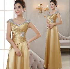Women's Evening Party Ball Gown Formal Bridesmaid Cocktail Glitter Sequins Dress #100New #Maxi #Cocktail