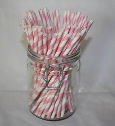 Pink Paper Straws Pk 25