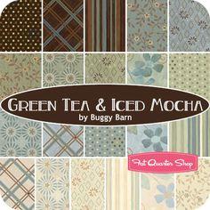 Green Tea & Iced Mocha Fat Quarter Bundle Buggy Barn for Henry Glass Fabrics - Fat Quarter Shop