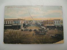 1907 view of North Main, Weatherford, Texas
