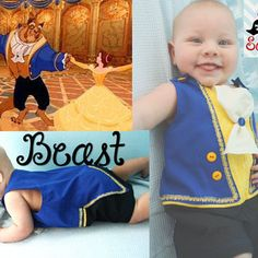 Disney Beauty and the Beast, Beast inspired jonjon/ outfit/ clothes/ romper/ costume/ clothes for baby boys sizes newborn, 3, 6 months