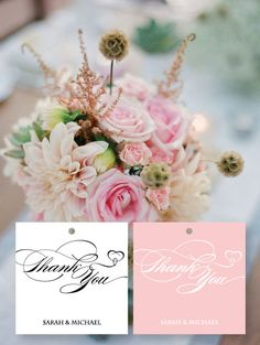 Thank you tags, wedding favor tags (100pcs)