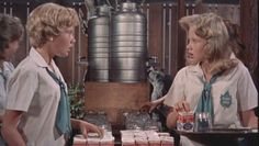 The Parent Trap: Twins Susan and Sharon meet for the first time...at a summer camp. Made me want to go to a cool summer camp.