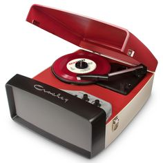 Crosley Red Collegiate Turntable at the Foundary