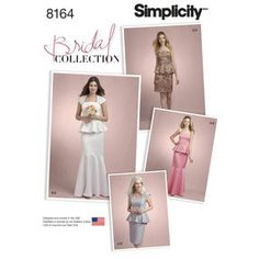 Pattern 8164 Misses' Two Piece Special Occasion Dress