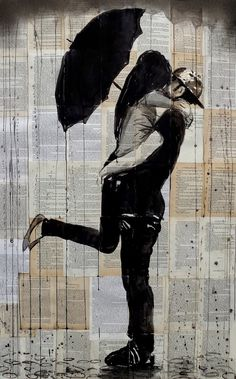 Rainy Day Lovers by Loui Jover