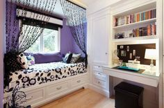 Teenage Bedroom With Window Bed And Beaded Curtains : Beaded Curtains Bring Fascination Back