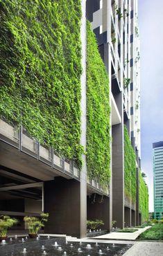 aussenfassade vertikaler garten moderne wohnideen Moderne Architektur Häuser