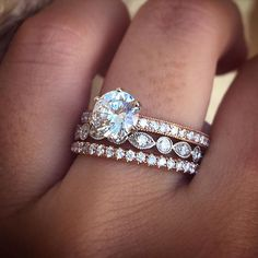 Perfect rose gold engagement ring stack