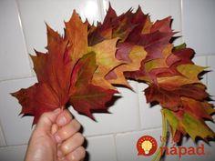 Susedka mi nechcela veriť, že listy nie sú kupované, keď ich toľko týždňov videla na mojich vchodových dverách. Odporúčam vyskúšať pre každého, kto rád tvorí z listov :-). Oragami, Things To Do, Carnival, Wreaths, Paper, Fall, Nature, Flowers, Crafts